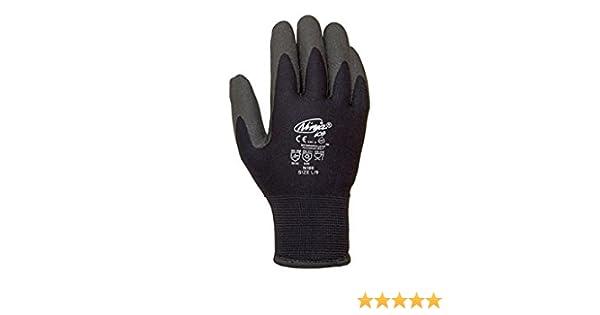 Juba - Guante ninja ice nylon acrilico pvc negro talla 8 ...