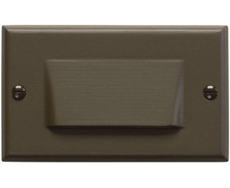 Kichler 12602AZ Step and Hall 120V LED Step Light Shielded, Architectural Bronze
