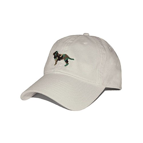 Camo Retriever Needlepoint Hat in Stone by Smathers & Branson