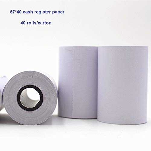 Printer Parts 57mm40mm(40rolls/lot) Thermal Receipt Paper Cash Register Paper with Hight Quality for 58mm pos Printer Machine by Yoton (Image #1)