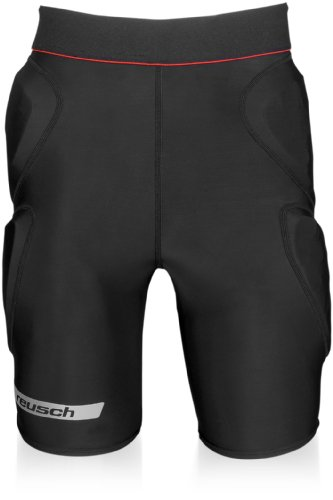 Reusch Adult CS Padded Shorts, Black/Red, X-Large ()