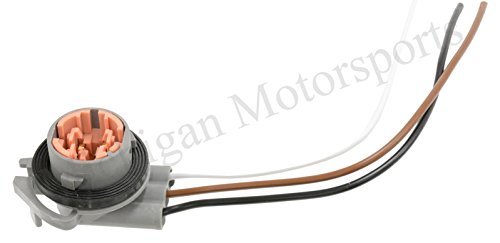 Suburban Parking Light (Michigan Motorsports 3-Wire Light Socket Turn Signal Parking Connector Pigtail Fits 3157, 4157 Bulb Chevy GMC Buick GM Cadillac)