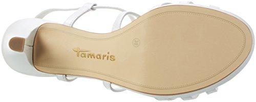 Tamaris 1-1-28399-38, Sandalias de Tacón Mujer Blanco (White 100)