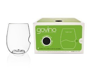 Govino Go Anywhere Classic Series Stemless Wine/Cocktail Glasses Flexible Shatterproof Recyclable, 12-ounce, Bulk Case of 72