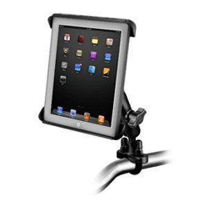 RAM MOUNTS (RAM-B-149Z-TAB3U Handlebar Or Rail Mount with Tab-Tite Universal Clamping Cradle for The Apple Ipad 4, Ipad 3, Ipad 2 and Ipad 1 with Or Without Light Duty Case