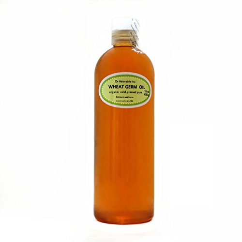 Organic Pure Carrier Oils Cold Pressed 16 Oz/1 Pint (Wheat Germ Oil Unrefined)