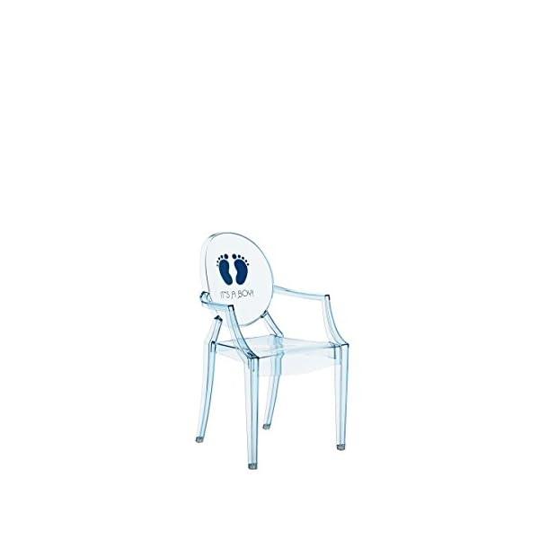 Kartell Lou Ghost Chaise Orma Bleu 2,7 x 37 x 63 cm