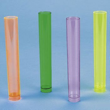 12 Plastic Neon Shot Glass Tubes [Toy] by Oriental Trading Co.