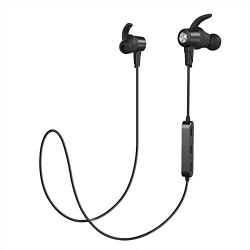 Bluetooth Headphones IPX5 Waterproof Wireless Sports Earbuds Bluetooth 4.1 Stereo in-Ear Earphones w/ CVC6.0 Noise Canceling Micro 7Hrs Headsets for Workout, Running, Gym