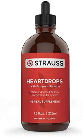 Strauss Heartdrops–Aged Garlic Extract, Herbal Supplement for Heart Health- Herbal Formula | Maintain a Healthy Cardiovascular System–High Quality, Natural Ingredients (7.6 fl oz Original Flavor)