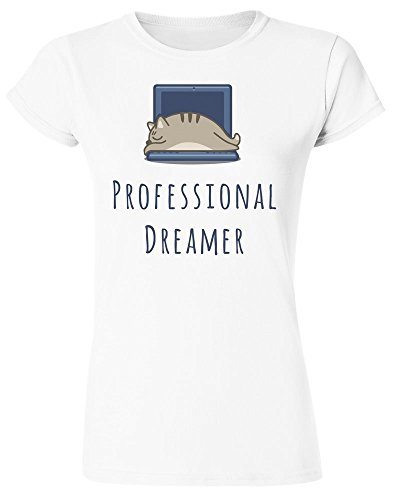 Professional Dreamer, Cat Sleeping On The Laptop Women's T-Shirt