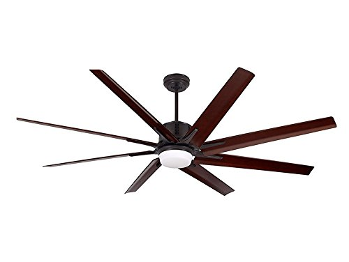 (Emerson CF985LORB Aira Eco 72-inch Modern Ceiling Fan, 8-Blade Ceiling Fan with LED Lighting and 6-Speed Wall Control)