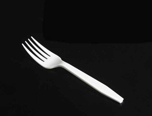 Price comparison product image FORK, MEDIUMWEIGHT WHITE POLYSTYRENE BULK PLASTIC