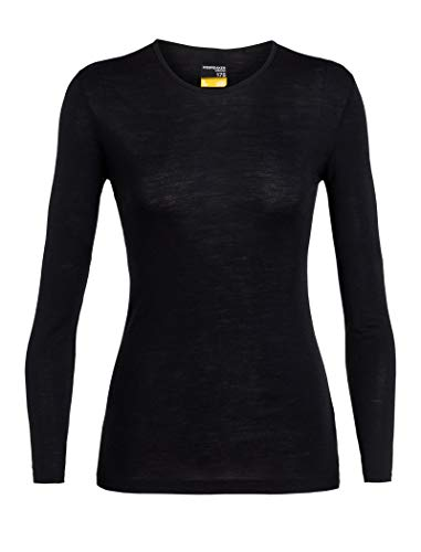 Icebreaker Merino Women's 175 Everyday Long Sleeve Crewe , Black, ()