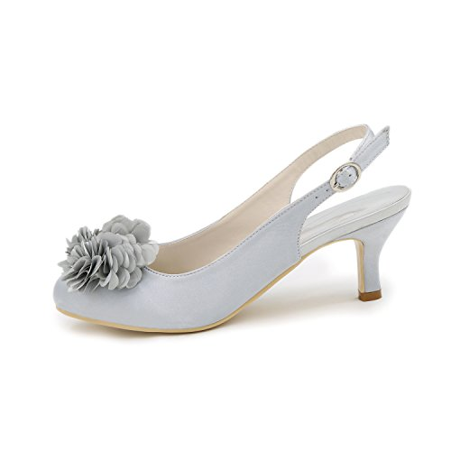 Court Pompe Kitten Toe Slingback Dress Closed Heels Scarpe Satin 1195 Womens Ager Flower 02H Purple wCqPx47TA