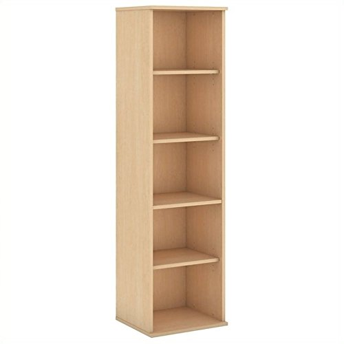 Scranton & Co 66H 5 Shelf Narrow Bookcase in Natural Maple