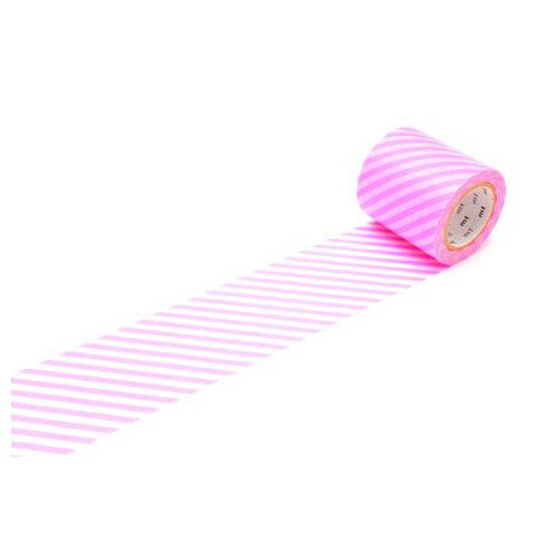 MT MTCA5061Z Casa Deco 50 mm Washi Masking Tape - Stripe, Shocking Pink
