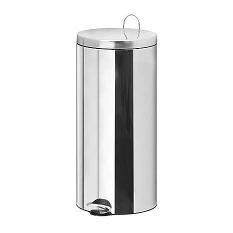 IKEA Rackel 30 litri pattumiera a pedale in acciaio inox con ...