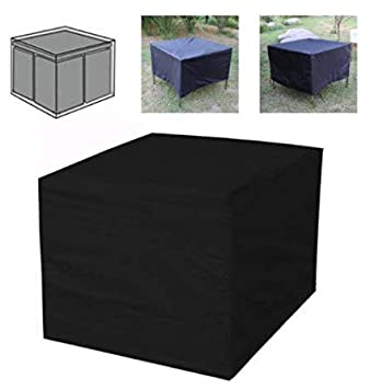 ~ Limpieza 120X120X74Cm Negro Cubo Al Aire Libre Plaza De Rattan Muebles Tabla Cubierta Materia De Nieve De Tela De La Sombrilla Lugar De Café