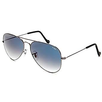 O-Let Aviator Sun Glasses for Women Men Gunmetal Frame w/ Blue Glass Lens