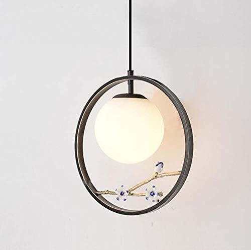 Blossom Pendant Lighting - Mamrar Chandelier Chinese Iron Pendant Lamp Creative Led Round Hanging Line Lamp Plum Blossom Deco Lights