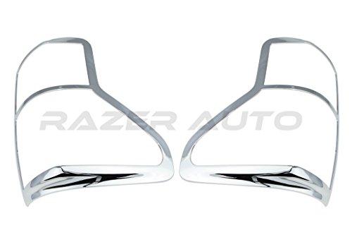 Razer Auto Chrome ABS Taillight Tail Light Trim Bezels Cover for 10-13 Toyota Tundra