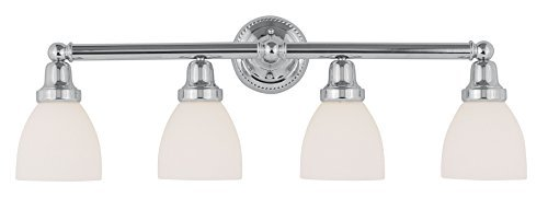 Livex Lighting 1024-05 Classic 4-Light Bath Light, Chrome