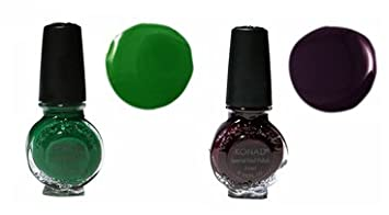 Amazon Com 2x Konad Special Polish For Nail Art Design Dark Purple