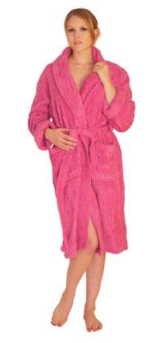 13a8faeafb NDK New York Women s Chenille Robe Mid Calf Length 100% Cotton Shawl Collar