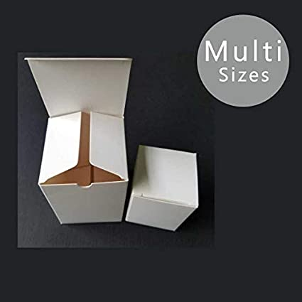 d2a245c3de0e Amazon.com: XLPD 50Pcs/Lot Small/Large White Paper Gift Box for ...