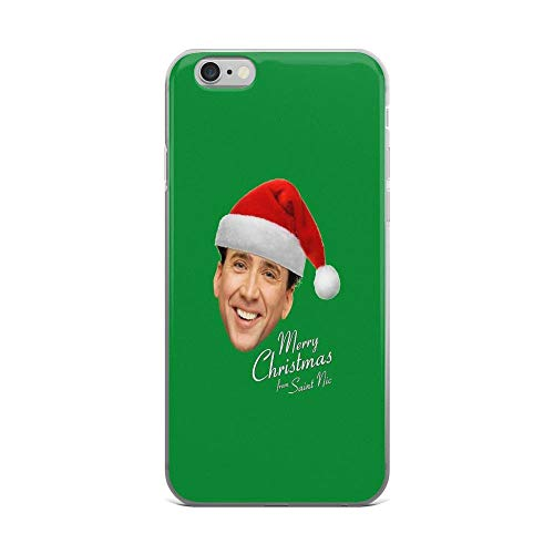 iPhone 6 Plus/iPhone 6s Plus Case Clear Anti-Scratch Merry Christmas from St Nic-olas Cage, Nicolas cage Cover Phone Cases for iPhone 6 Plus iPhone 6s Plus]()