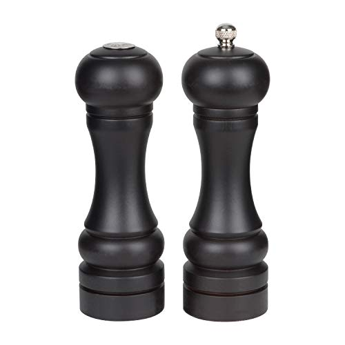 Trudeau Seville Espresso Wood 6 Inch Pepper Mill and Salt Shaker ()