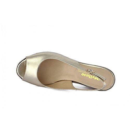 Melluso Sleehak Sandaal - R7900 Gouden