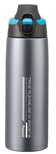 Peacock stainless steel bottle - drink straight type porch] 0.6L Blue ADZ-F60 (A) (japan import) by Peacock (Image #4)