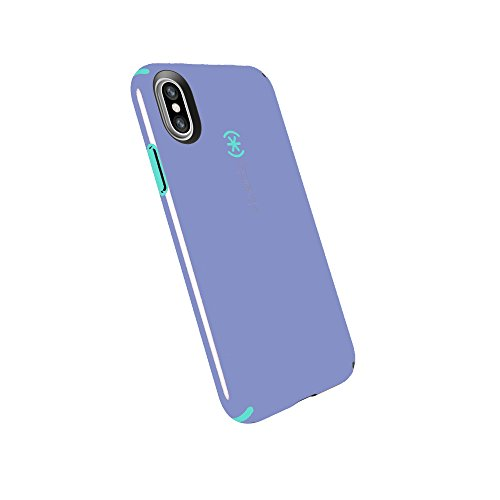 Speck Products CandyShell Cell Phone Case for iPhone X - Wisteria Purple/Mykonos Blue