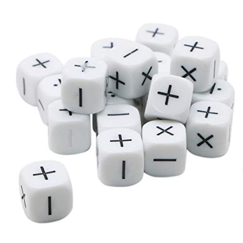 JETEHO 20 Pcs Math Operation Dice Equation Dice Game Learning Resources Supplies for Kids Teacher Parents