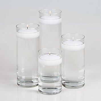 Amazon Set Of 4 Eastland Cylinder Vases And 4 White Richland