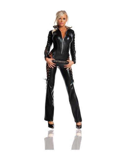 Starline Women's Rebel Sexy Costume Set, Black,