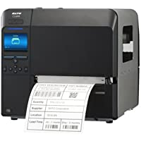 Sato WWCL90361 Series CL6NX Industrial Thermal Transfer Printer with Dispenser, Rewinder and RTC, 203 dpi Resolution, 6.5