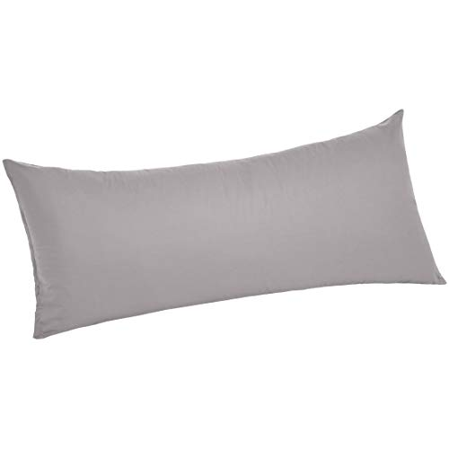 AmazonBasics Ultra-Soft Body Pillow Cover Pillowcase, Breathable, Easy to Wash, 55