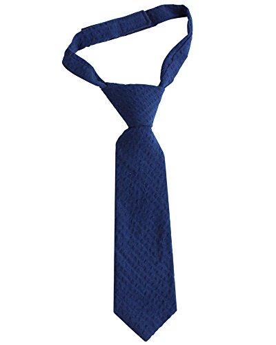 juDanzy Baby & Toddler Boys long velcro Neck Tie (Navy (Hampton Tie)
