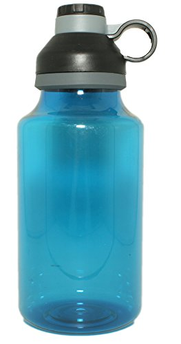 oz XL/XXL Plastic Travel Water Bottle with Twist Off Cap & Sipping Spout | Leak/Spill-Proof, Portable for Gym, Hiking, Camping, BPA Free - by EcoOne ()