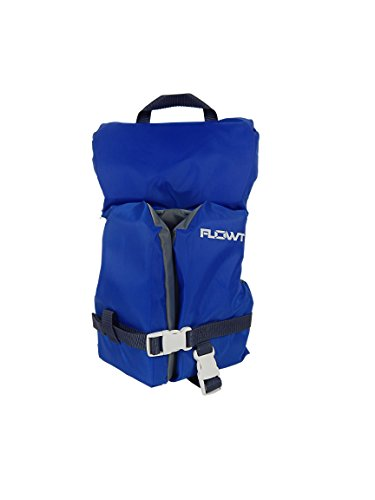 (Flowt Multi Purpose 40201-2-INFCLD Multi Purpose Life Vest, Type II PFD, Heads Up Pillow, Grab Strap, Leg Strap, Blue, Infant/Child,)