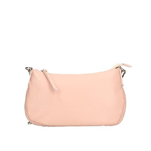 Chicca Borse Piel genuina bolso 26x16x8 Cm rosado