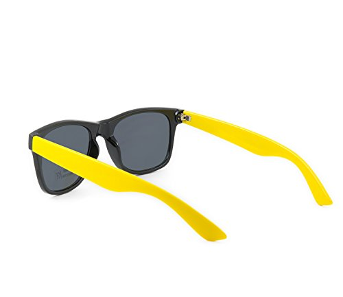 yellow unisex de espejo retro sunglasses cristales 80 estilo de de Gafas sol los qRgwpc