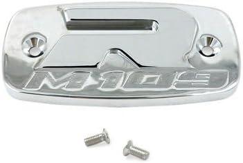 Yana Shiki CA3199 Triple Chrome Billet Aluminum Reservoir Cap with Raised Design for Suzuki M109
