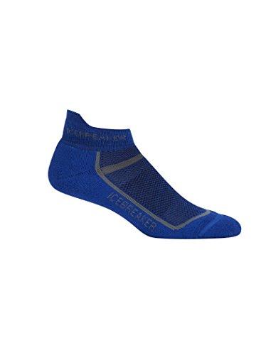 Icebreaker Merino Men's Multisport Light Cushion Micro Socks, Cobalt/Twister Heather, Large
