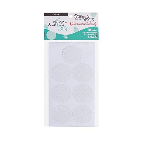 White 2-Pack Bath Tub Anti-Slip Discs - Non Skid Adhesive Shower Stickers Appliques Treads by Unknown
