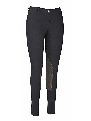 TuffRider Women's Ribb Lowrise Pull-On Breeches, Black, 26