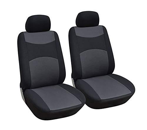 Optimum Opt Brand. Fabric Cloth 2 Front Car Seat Covers Fit Volkswagen Beetle Passat Touareg Jetta Tiguan GTI Golf (Black)
